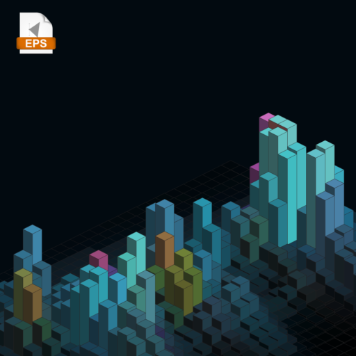 Isometric blocks, perfect to use as a background.